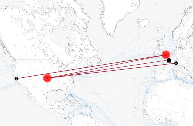 mapa comunicaciones