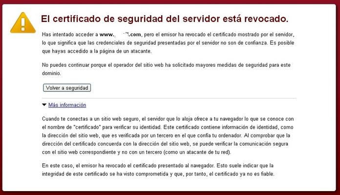 revocacion certificados