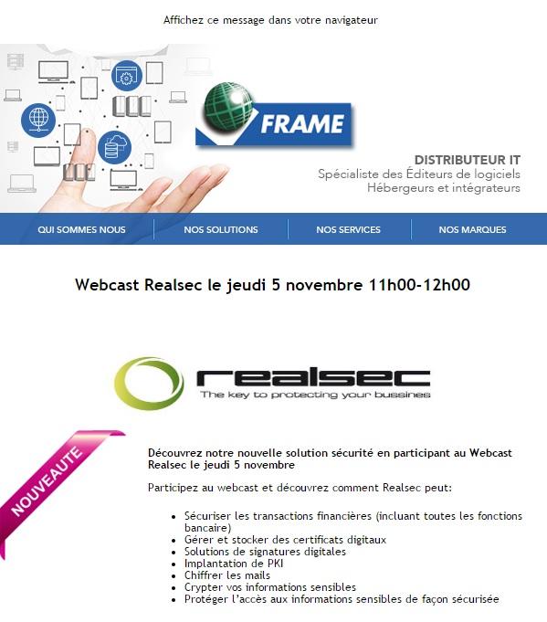 webcast frame realsec